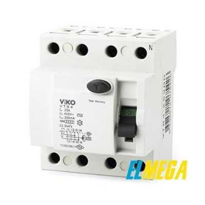 Дифференциальный автомат Viko 4P 32A 30mA