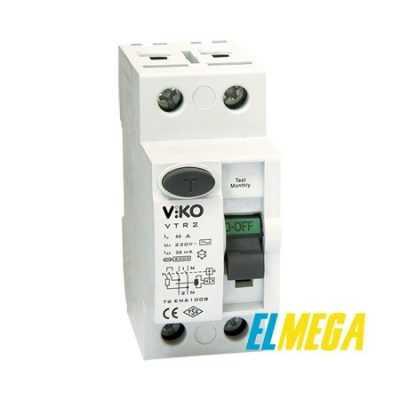 Устройство защитного отключения (УЗО) Viko 2P 25A 30mA