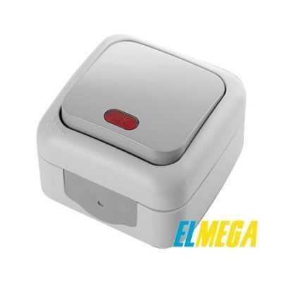 Выключатель 1-клавишный с подсветкой Viko Palmiye