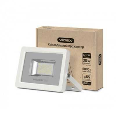 LED прожектор VIDEX Premium 20W 5000K 12-24V White