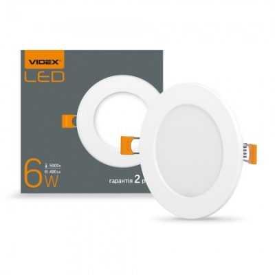 LED светильник встраиваемый круглый VIDEX 6W 5000K