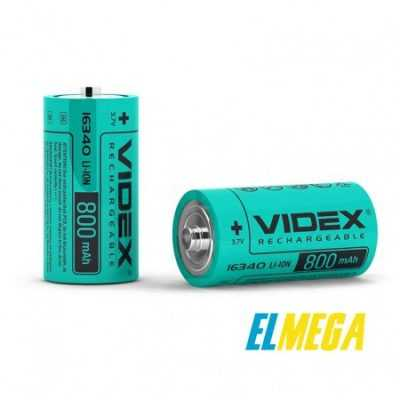 Аккумулятор Videx Li-Ion 16340 (без защиты) 800mAh bulk