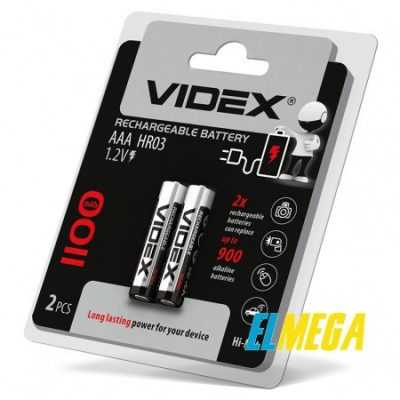 Аккумуляторы Videx HR03 AAA 1000mAh double blister