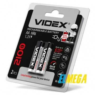 Аккумуляторы Videx HR6 AA 2100mAh double blister