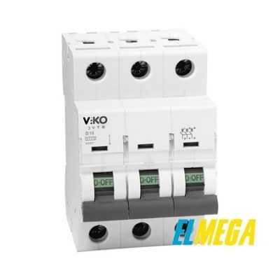 Автоматический выключатель 10A 3P Viko