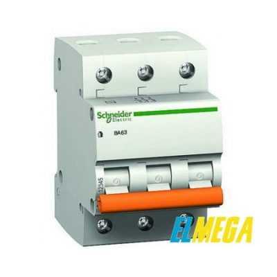 Автоматический выключатель 32A 3P Schneider