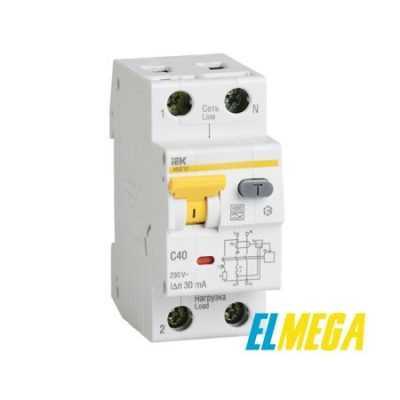 Автоматический выключатель дифференциального тока IEK С16 30mA