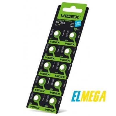 Батарейка часовая Videx AG4 (LR626) blister card 10 pcs