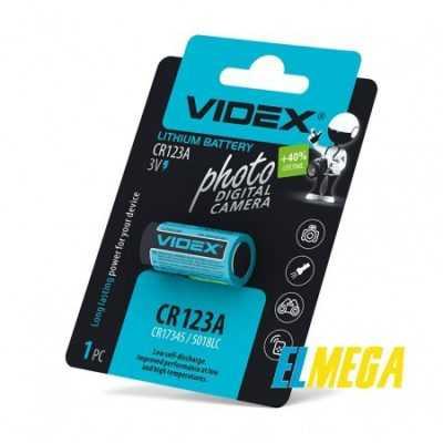 Батарейка литиевая Videx CR123A 1pc blister card
