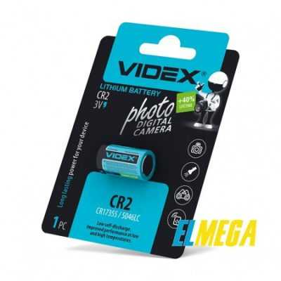 Батарейка литиевая Videx CR2 1pcs blister card