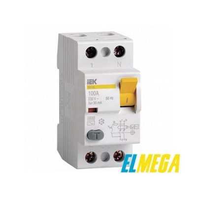 Устройство защитного отключения (УЗО) IEK 2P 63A 30mA