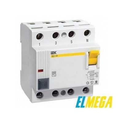 Устройство защитного отключения (УЗО) IEK 4P 100A 30mA