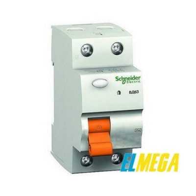 Устройство защитного отключения (УЗО) Schneider 2P 63A 30mA