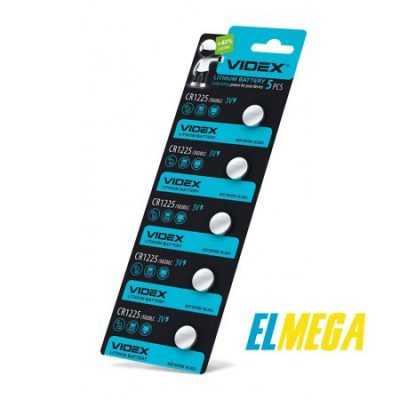 Батарейка литиевая Videx CR1225 5pcs blister card