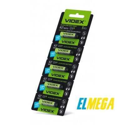 Батарейка щелочная Videx А27 5pcs blister card