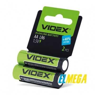 Батарейка щелочная Videx LR6 AA 2pcs shrink card