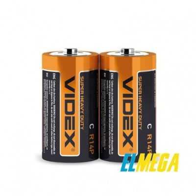 Батарейка солевая Videx R14P C 2pcs shrink