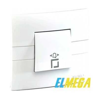 Кнопка звонка Mono Eco белая