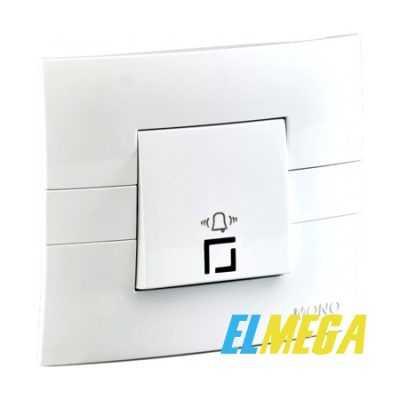 Кнопка звонка с подсветкой Mono Eco белая