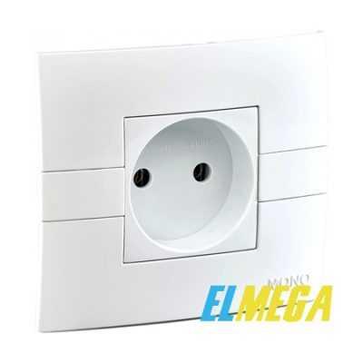 Розетка 1-я Mono Eco Белая