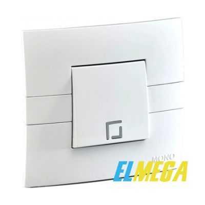 Выключатель 1-клавишный Mono Eco белый