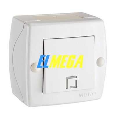 Выключатель 1-клавишный Mono Octans белый