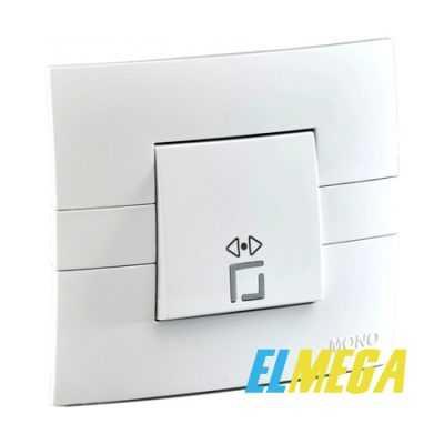 Выключатель 1-клавишный перекрестный Mono Eco белый