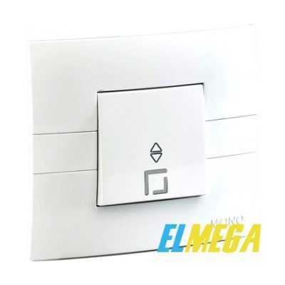 Выключатель 1-клавишный проходной Mono Eco белый