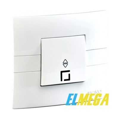 Выключатель 1-клавишный проходной с подсветкой Mono Eco белый