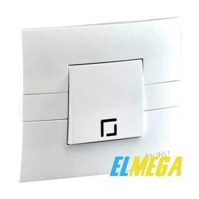 Выключатель 1-клавишный с подсветкой Mono Eco белый