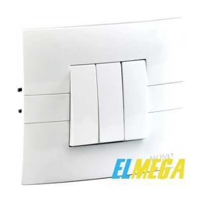 Выключатель 3-клавишный Mono Eco белый