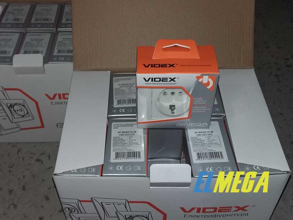 Розетка Videx Binera в заводской упаковке