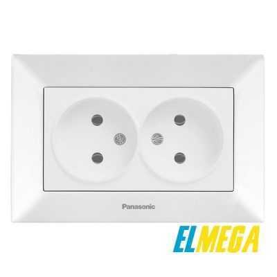 Розетка 2-я Panasonic Arkedia Slim белый