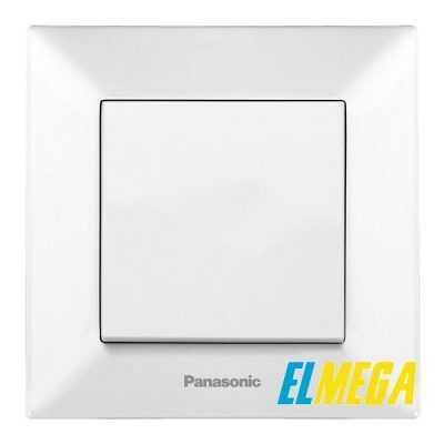 Выключатель 1-клавишный Panasonic Arkedia Slim белый