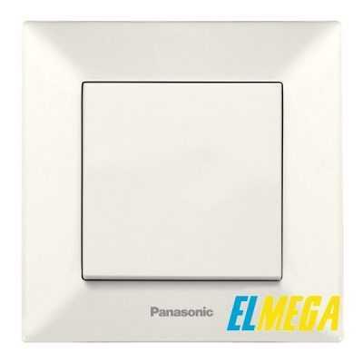 Выключатель 1-клавишный Panasonic Arkedia Slim крем