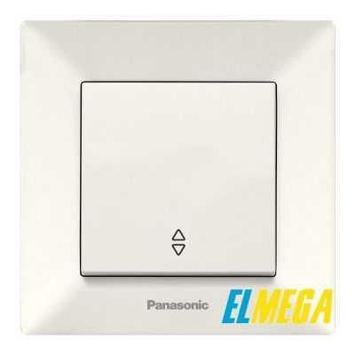 Выключатель 1-клавишный проходной Panasonic Arkedia Slim крем