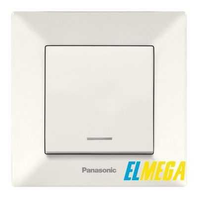 Выключатель 1-клавишный с подсветкой Panasonic Arkedia Slim крем