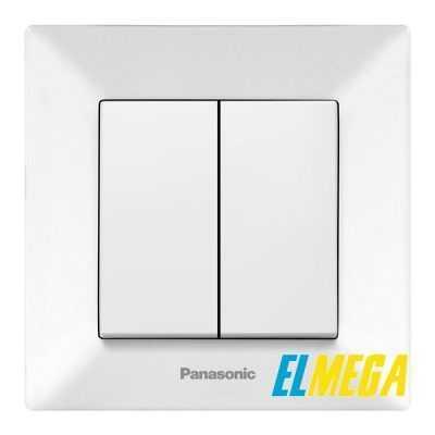 Выключатель 2-клавишный Panasonic Arkedia Slim белый