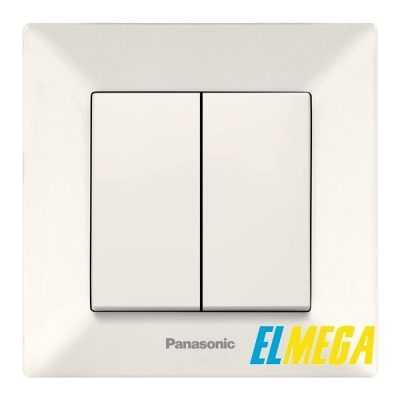 Выключатель 2-клавишный Panasonic Arkedia Slim крем