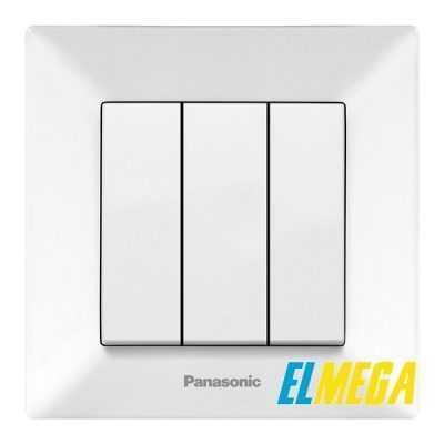 Выключатель 3-клавишный Panasonic Arkedia Slim белый