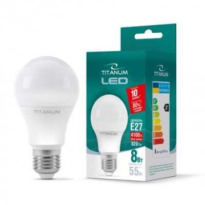 LED лампа TITANUM A60 8W E27 4100K 220V