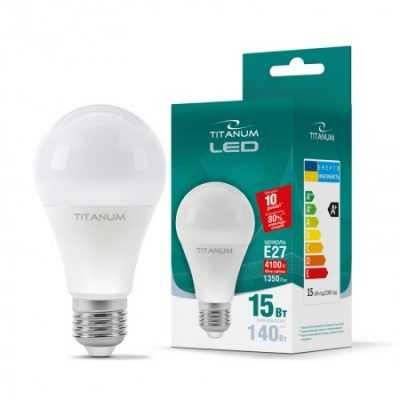 LED лампа TITANUM A65 15W E27 4100K 220V