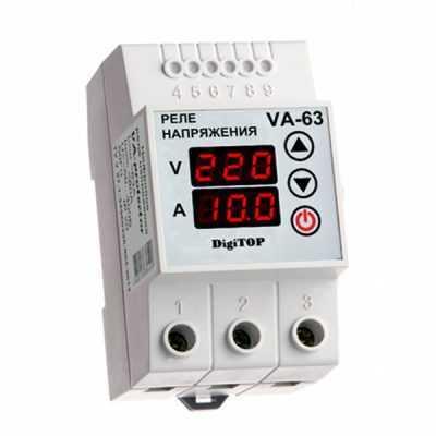 Реле напряжения с контролем тока VA-protector VА-63 DigiTOP