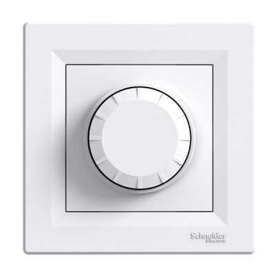 Светорегулятор поворотный 600 Вт Schneider Asfora белый