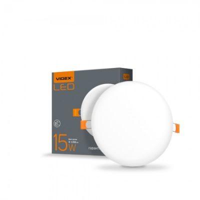 LED светильник безрамочный круглый VIDEX 15W 4100K
