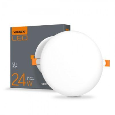 LED светильник безрамочный круглый VIDEX 24W 4100K