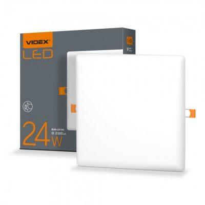 LED светильник безрамочный квадратный VIDEX 24W 4100K