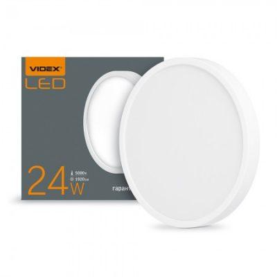 LED светильник накладной круг VIDEX 24W 5000K