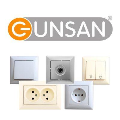 Розетки и выключатели Gunsan