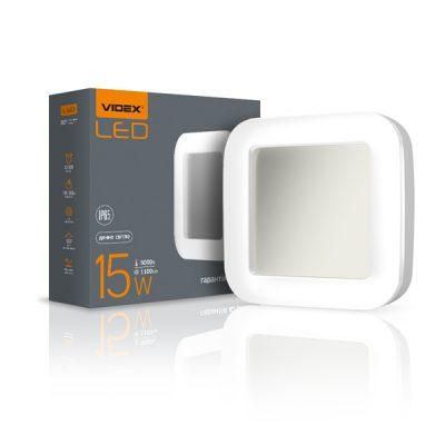LED светильник ART IP65 квадратный VIDEX 15W 5000K